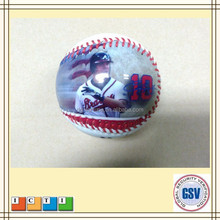 Wholesale digital printing 9 inch PVC surface and rubber core baseball ball for baseball game