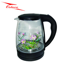 OC-1504 Color Changing Coffee Tea Pot Glass Electric Kettle With Light