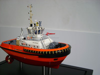 Tug boat hand make resin ship model