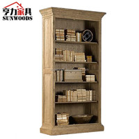 French Antique recycled furniture tall bookcase