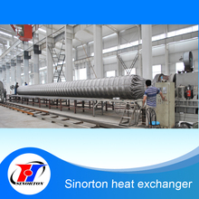 Large high pressure stainless steel coil wound heat exchanger