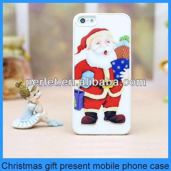 Christmas Day santa claus case for iphone 4 4G 4S Hard Plastic Case Santa Claus phone cases