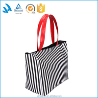 Top Quality canvas travel tote bag with leather handles fashion styles