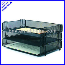 Fashion design office desk metal mesh stackable file tray