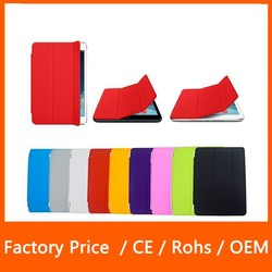 Hot Selling Tri-Fold Ultra Slim Single Front Wake Sleep PU Leather Smart Case Cover For iPad Mini