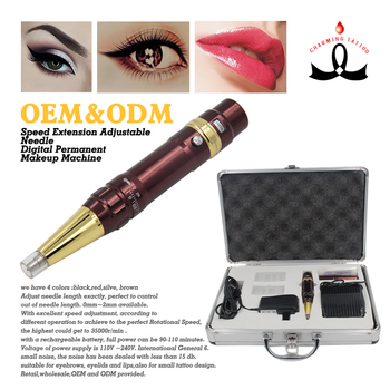 Permanent makeup liberty machine cordless adjust needle tattoo machine