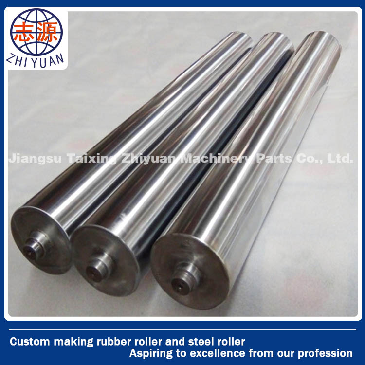 custom made zinc plated/ chrome coated steel roller