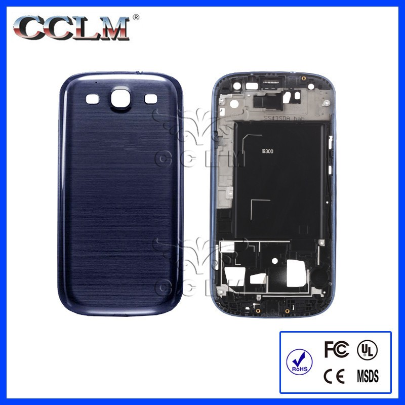 Wholesale Mobile Phone Housing Cover for Samsung Galaxy S3 i9300 L710 T999 i747 i535 Back Cover Battery Door