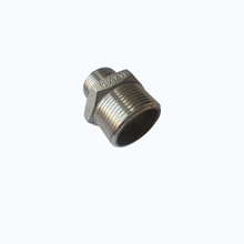 stainless steel threadedss 316 pipe 4 inch stainless steel hexagonal nipple joint pipe reducer fitting connector