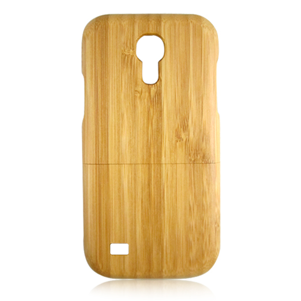 Two parts cell phone case carbonized bamboo wooden case made in china back cover for Samsung S4 mini