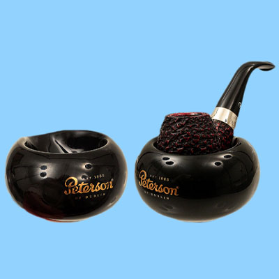 custom decals black single tobacco smoking pipe stand