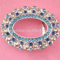 35mm R-6212-6 A Decorative oval lady's fashion small rhinestone buckle with blue beeds