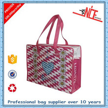 alibaba china colorful laminated pp woven shopping bags with zipper
