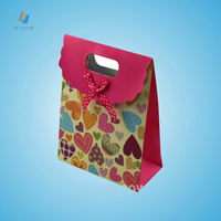 custom cheap color gift paper bag printing for shopping