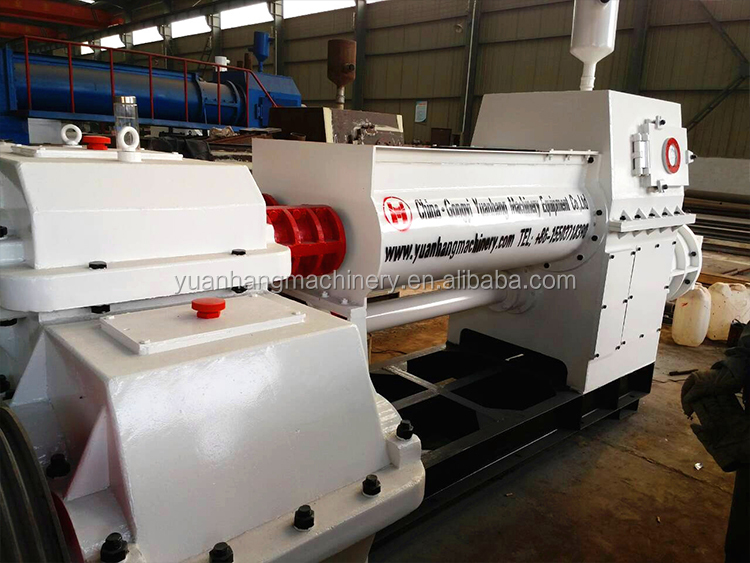 Automatic coal firing clay vacuum extruder Soil Red Mud Brick Making Machine In Israel