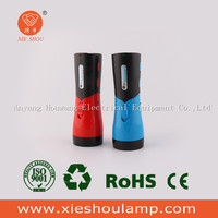 High quality plastic strong light rechargeable led flashlight