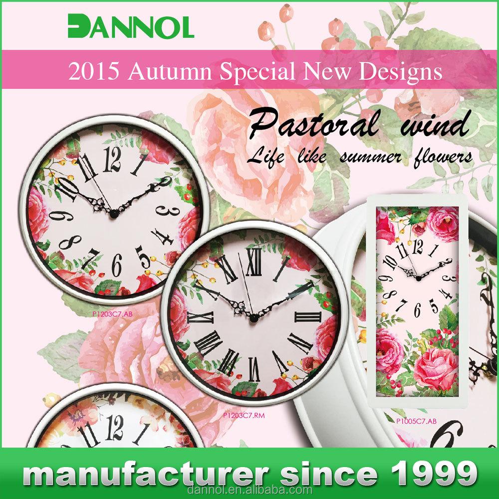 Nouveaux produits 2016 jolie horloge d coration de mariage for Jolie horloge murale