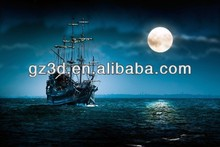 3d sailing boat decoration 3d picture