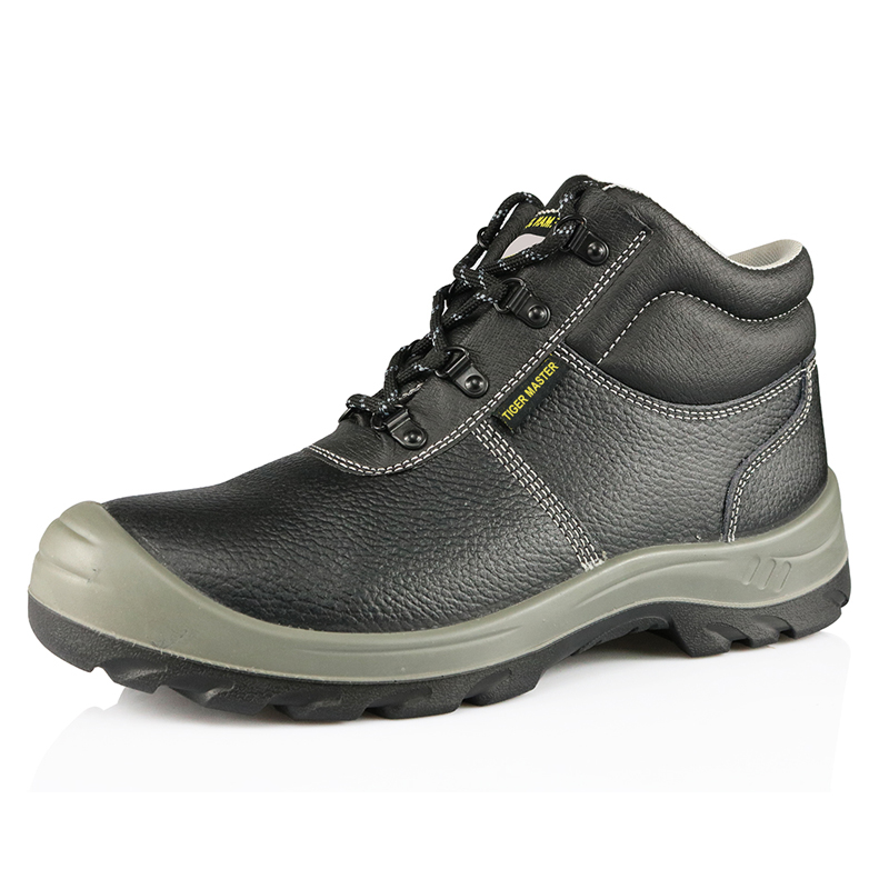 Six months guarantee genuine leather safety shoes for work man