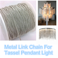 Fashion shiny silver metal link Chain for pendant Tassel light