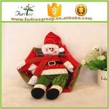 santa claus and snowman christmas ornament parachute