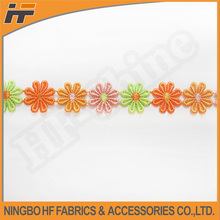 Colourful flower decorative chemical lace