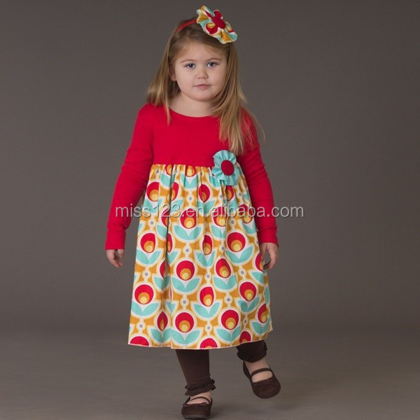New Spring Hot Sale Kids Girls Giggle Moon Remake Outfits Vintage Floral Ruffle Dress Toddler Girl Boutique Cotton Outfits 2015
