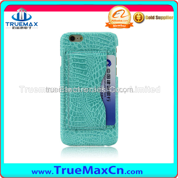 Leather back Card Holder TPU Soft Mobile Phone Case for Iphone 5s, 6, 6s,