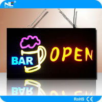 Hot sale portable LED resin sign numerical LED display board advertised for cafe/ restaurant/ bar