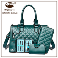AWW08 Hot Best Sale Western Style Wholesale PU Leather Tote Handbags Sets 4 PCS for Women Fashion ladies handbags bags women