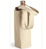 Customized durable recycable canvas bottle wine tote bag
