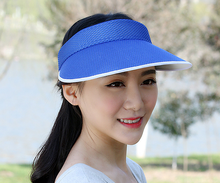 wholesale mesh plain cheap beach outdoor sun visor cap