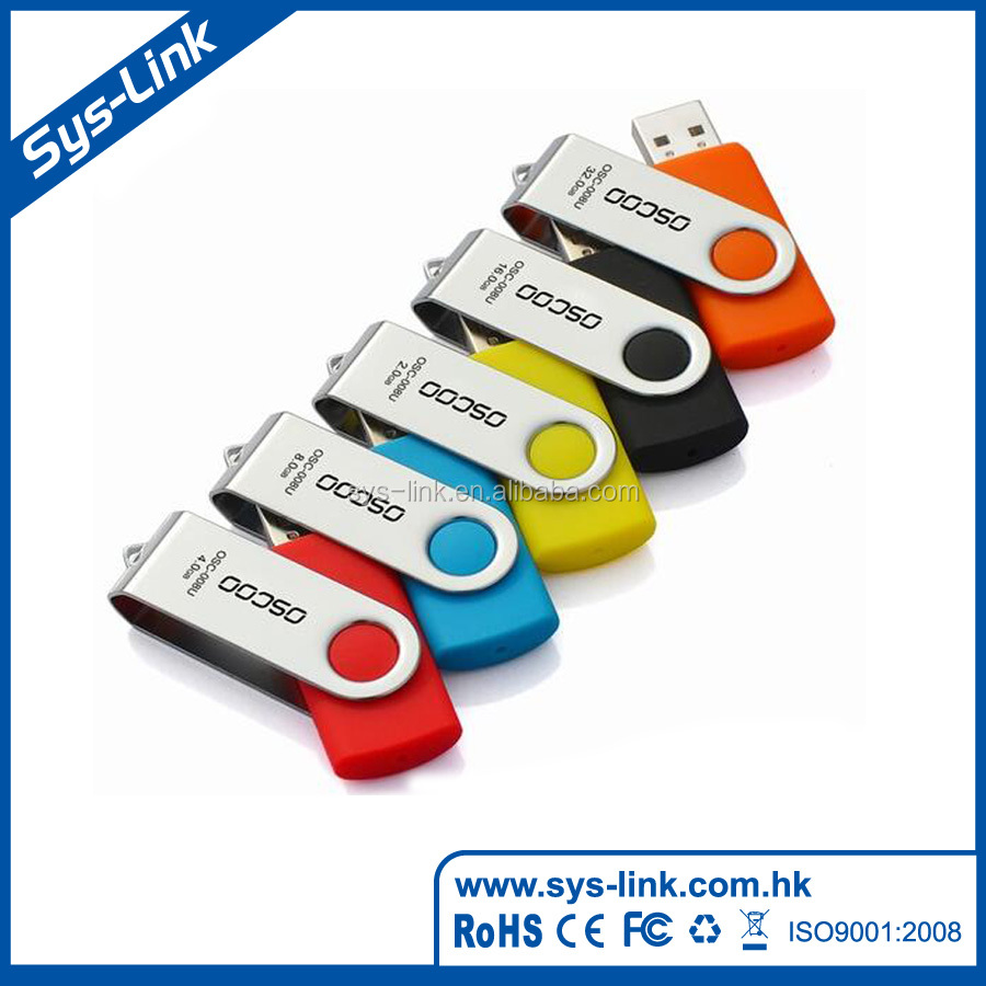 Newest design 15.9g swivel metal usb disk