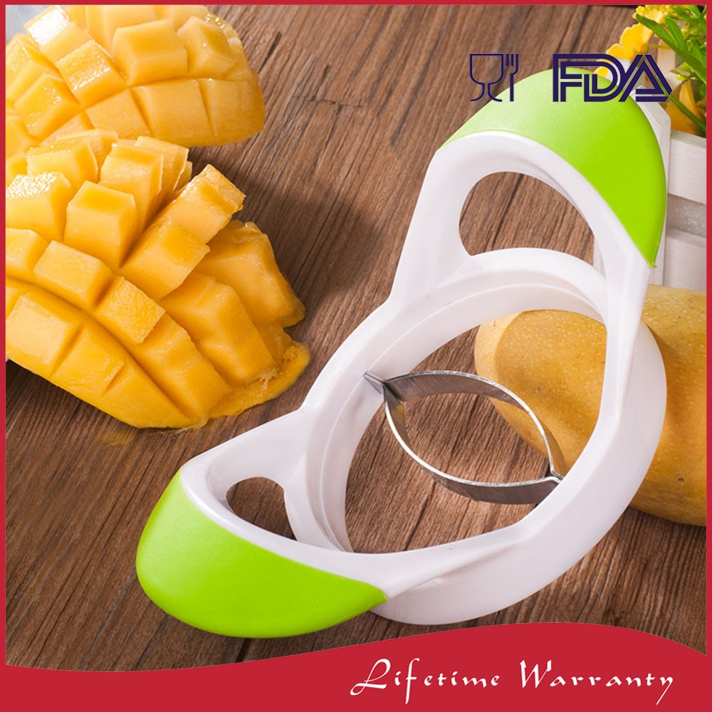 Fruit half cut tools stainless steel mango cutter for kitchen cutting knife