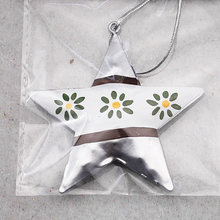Fashion design decorative ornament metal hanging star for tree decoration