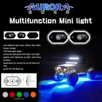 "guangzhou shenzhen Aurora 2"" 9W led rock light for motorcycle"