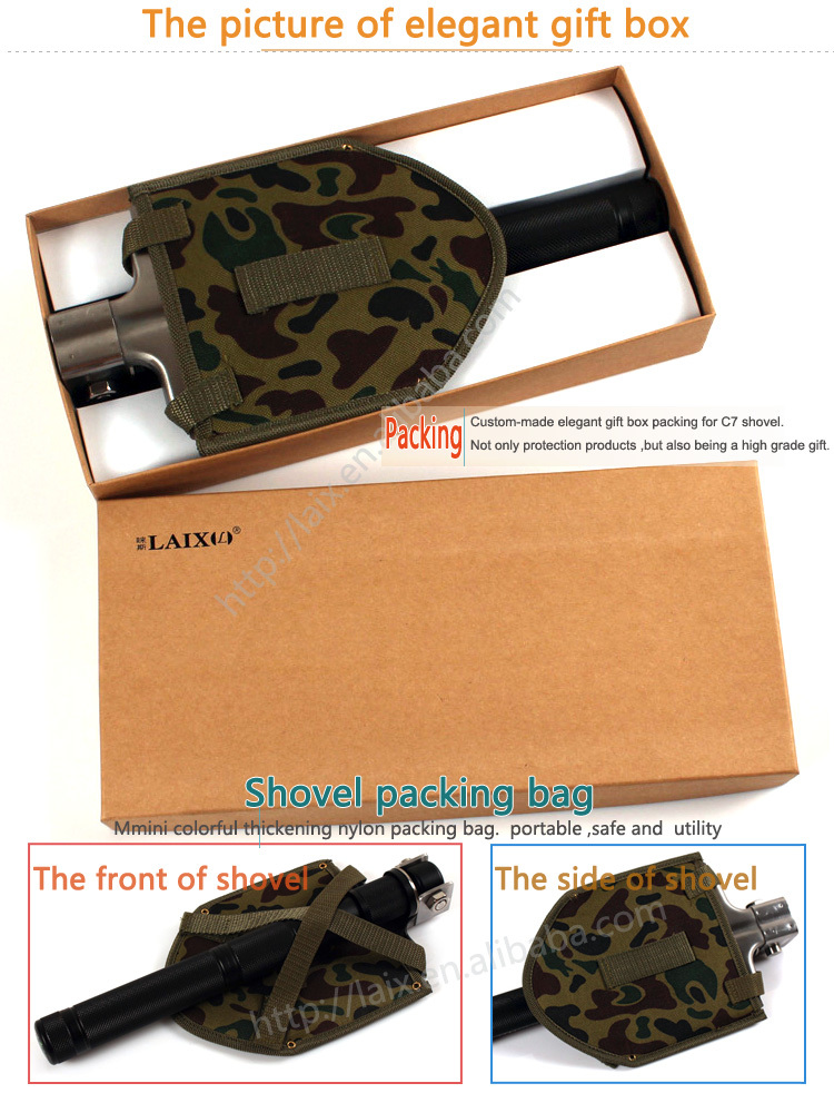 military folding shovel multi-function steel shovel