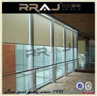 transparent electric curtain track motorized restaurant curtain