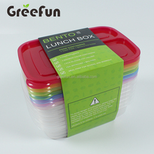 Thicken Hot Selling 3 Compartment Food Meal Prep Containers , Wholesale Resuable Microwave PP Plastic Bento Box Factory