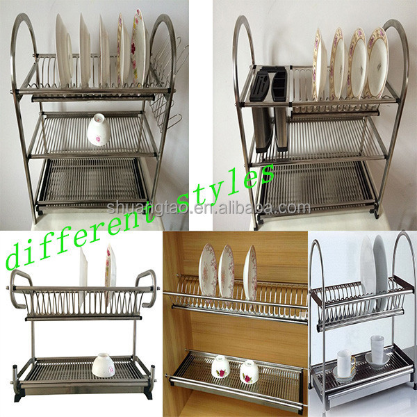 ISO Guangzhou factory dish rack kitchen cabinet dish rack : steel plate rack for kitchen - Pezcame.Com