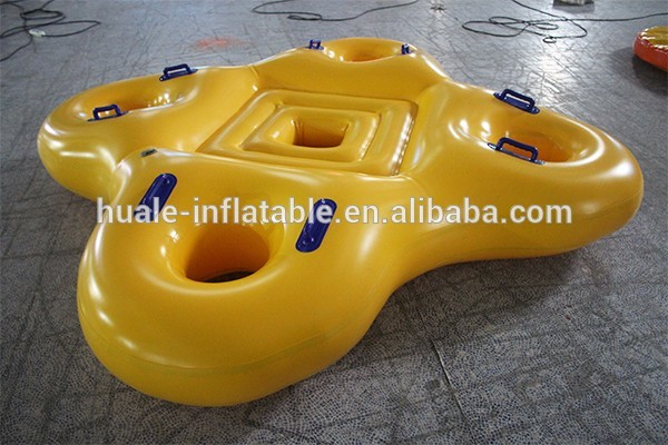 High quality cheap yellow inflatable floating ring inflatable float swimming ring water toys for play