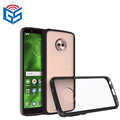 2 in 1 Bumper Acrylic Pc Tpu Transparent Combo Case For Motorola For Moto G6