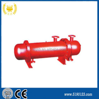high quality double shell and tube type condenser / gas boiler heat exchanger