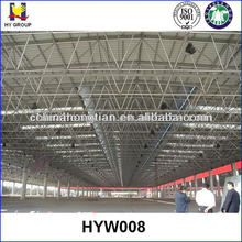 Large span prefabricated warehouse building