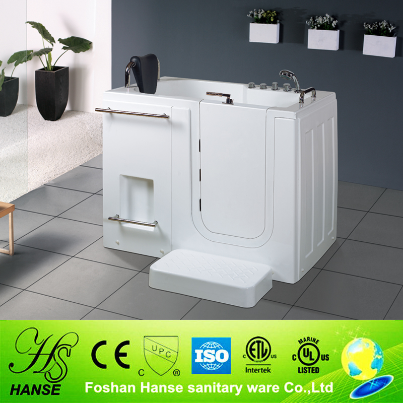 HS-B1105 rectangular handicapped walk in bathtub for elderly