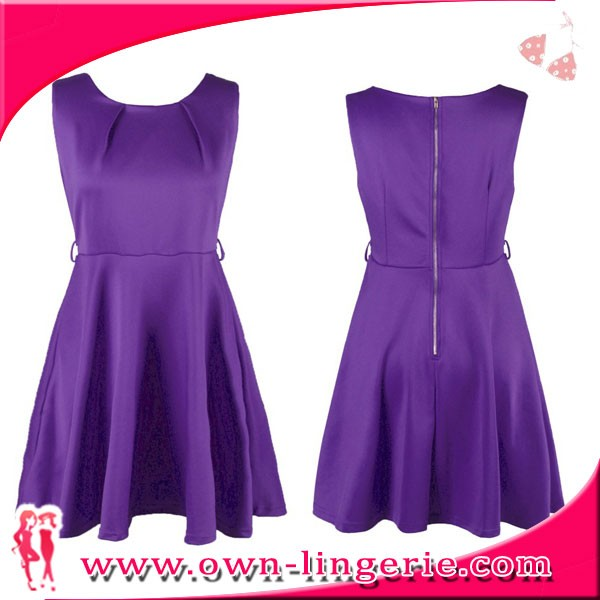 china wholesale price 4 color solid green,black,red,purple solid color vintage dress
