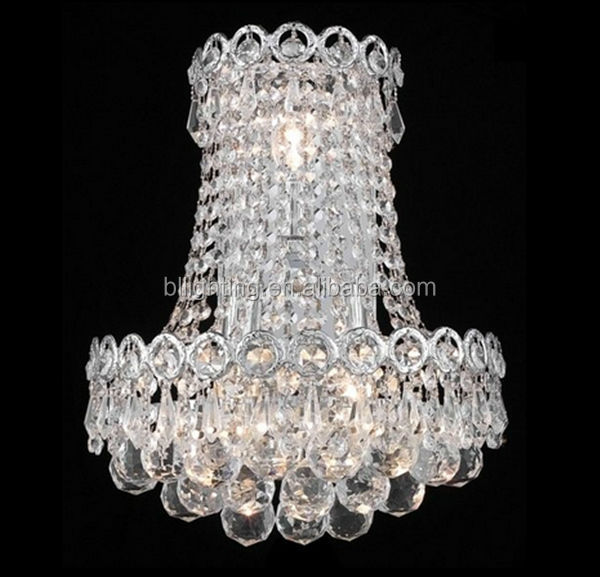 Modern crystal home shell shaped wall lights