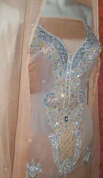 kamdaar fancy embroided party suits