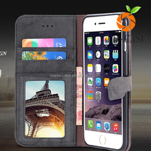Real Genuine Leather Magnetic Flip Cell Phone Case Cover For iphone 7