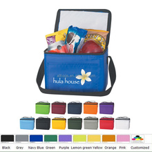 polyester cheap simple insulated cooler bag for food